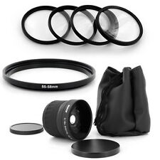 55mm Super Fish Eye 0.18x,Macro Kit for PANASONIC LUMIX DMC-FZ50 DMC-FZ30,NEW,US