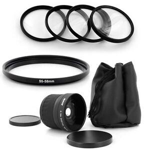 55mm Super Fish Eye 0.18x,Macro Kit for PANASONIC LUMIX DMC-FZ50 DMC-FZ30,NEW,US