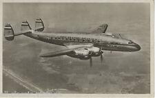 Postcard 1178 - Aircraft/Aviation Real Photo KLM Lockheed Costellation