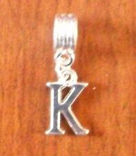 Pendentif argentée lettre K