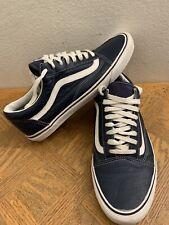Vans Old Skool Blue Leather Men's Size 13