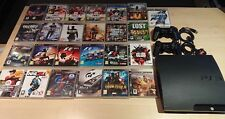 Sony PlayStation 3 Slim Bundle 160GB Charcoal Black Console with 25 Games