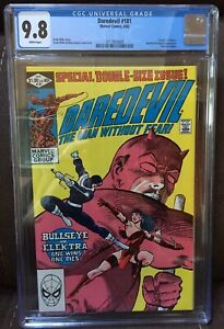 Daredevil #181 CGC 9.8  White pages  Death of Elektra