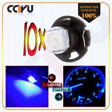 10Pcs Blue Dash A/C Climate Control Light Lamp T5/T4.7 Neo Wedge 5050 LED Bulb
