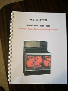 Wurlitzer Model 3600/3610/3660 Jukebox Manual