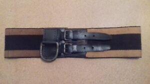 "Vintage Antique 1890-1950s French Army Firefighter Sapeur Pompier Belt 35-38"""