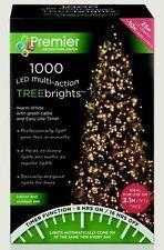 Premier 1000 Treebrights WARM WHITE LED Christmas Tree Lights Multi Action Timer