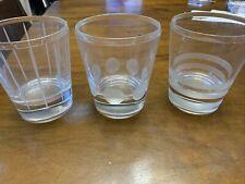 Glass Drinkware Tumblers, Set Of 3, Whiskey, Bourbon, Wine