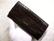 MIU MIU Long wallet Very Rare Croc Embossed