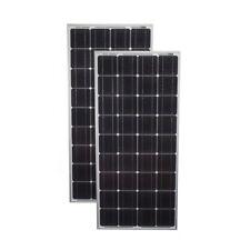 Mighty Max 200 Watt Solar Panel Mono 2pc 100W Off Grid 12V RV Boat Home - 2 Pack