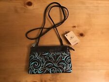 New ListingNwt Patricia Nash Sorbola Tooled Turquoise Distressed Brown Leather Crossbody