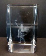 Angel with Heart 3D Crystal Cube  80mm - Gift Boxed (Post or Local Pickup)