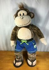 """Build A Bear Magnificent Monkey With Sound Plush 18"""" Stuffed Animal Brown Tan"""