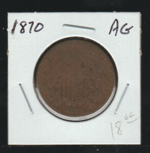 1870 Two Cents, About Good