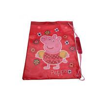Peppa Pig Tropical Drawstring Swim Bag Red Waterproof Beach Kids School Satchel