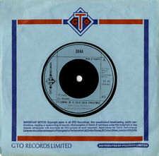 """Dana It's Gonna Be A Cold Cold Christmas 7"""" vinyl single record UK GT45 GTO"""