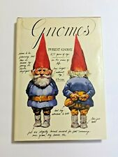 Gnomes Wil Huygen Rein Poortvliet book hbdj 1977 Peacock Abrams gnome fieldguide