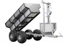 ATV timber trailer + cargo box + crane
