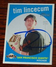TIM LINCECUM 2008 TOPPS HERITAGE HAND SIGNED CARD #303