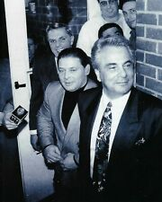 JOHN GOTTI & SAM GRAVANO 8X10 PHOTO MAFIA ORGANIZED CRIME MOBSTER MOB PICTURE BW
