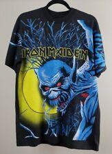 Rare Iron Maiden Overprint All Over Print T Shirt XL