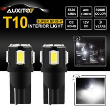 2X T10 168 194 W5W 2825 Xenon White LED Car Interior Map Dome License Plate Lamp