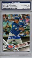 Kyle Schwarber Chicago Cubs 2017 Topps Signed Card PSA/DNA
