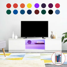 120cm/160cm White High Gloss TV Stand Cabinet Unit with Free LED Light White HOT