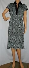 """""""POSTIE"""" - Great PreOwned - Size 12 - """"AQUA/BROWN"""" Cap Sleeve Light Spring Dress"""