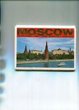 RUSSIE Pochette avec 16 cartes de MOSCOU MOSCOW Capital Soviet Union