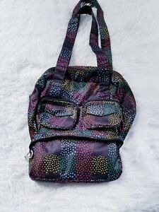 Lug Puddle Jumper Mini Packable Tote Spotted Dotted Black Rainbow