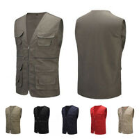 Men's Multi Pocket Travelers Fishing Photography Director Casual Vest Outdoor