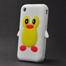 Handyhülle Apple Iphone 3 3G 3GS Silikon Schutzhülle Cover Tasche Pinguin Weiß