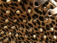 GIENCHI Leopard Print & Pony Hair with Gold Spikes - NEW IN BOX