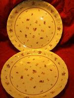 SET OF 2 Vintage MIKASA COUNTRY CLASSICS ROSELAND #KS151 Dinner Plates