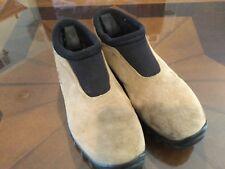 Salomon Men's 7.5 Women's 8.5 Euro 40 2/3 Tan Suede Thinsulate Contragrip Shoes