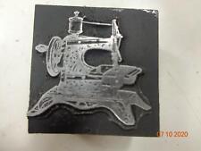 Printing Letterpress Printer Block Decorative Vintage Sewing Machine Print Cut