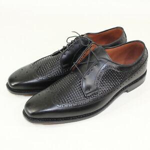 Allen Edmonds Mens Boca Raton Woven Wingtip Black Leather Size 12
