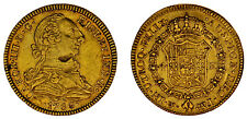 4 Gold ESCUDOS / Gold. Charles III - Carlos III Mexico 1786. XF