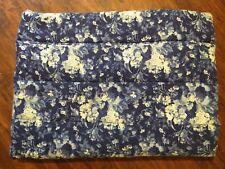 Vintage Ralph Lauren Twin Comforter - Staffordshire Floral - Blue White