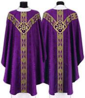 Casula Gotica Viola con stola Pianeta Paramento liturgico VARI COLORI GY209F25