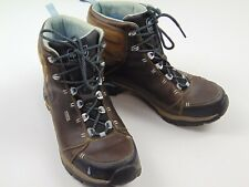 AHNU Women's Waterproof Lace Up Ankle Hiking Boots eVent Brown Vibram Sole 10.5