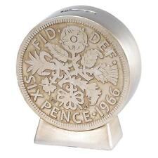 Old Money A28492 Sixpence Coin Money Bank