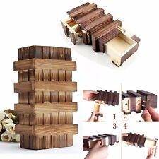 Magic Wooden Secret Puzzle Box Compartment Intelligence Brain Teaser Toys Xmas