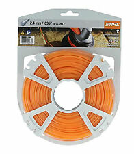 Stihl Strimmer/Trimmer Nylon Cutting Line Cord 2.4mm Round 86m / 280ft