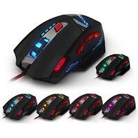 KINGTOP Optische Gaming-Maus, Verbindung zum PC per USB-Anschluss, 6dpi-Stufen