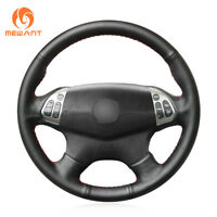 Black Genuine Soft Leather Car Steering Wheel Cover for Acura TL 2004 2005 2006