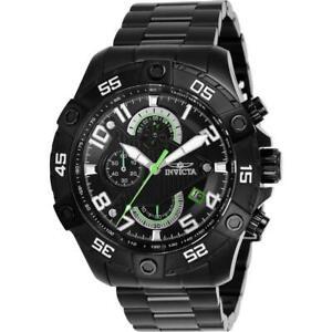Invicta S1 Rally 26101 Men's Round Black & Green Analog Chronograph Date Watch
