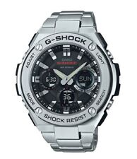 Casio G-Shock G-STEEL *GSTS110D-1A Solar Silver Stainless Steel Ivanandsophia