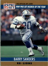 1990 Pro Set Football Card #1B Barry Sanders/Rookie of the Year
